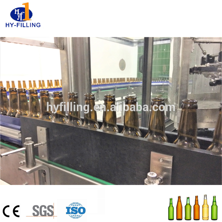 Full Automatic Glass Bottle Beer Filling And Brewing Machine